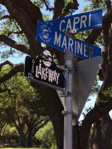 Old Lakeway Street Sign topper neighborhood designation